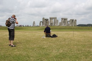 Photographing Mark and Stonehenge