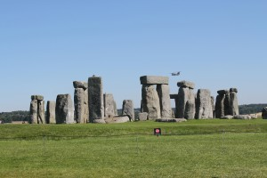 A Chinook over Stonehenge
