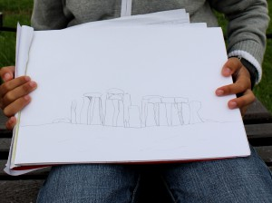 Pietro's drawing of Stonehenge