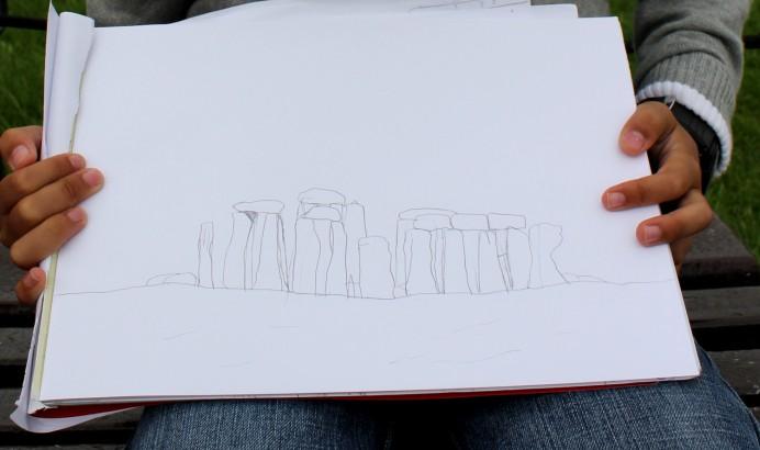Pietro's drawing of Stonehenge