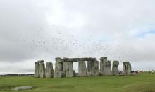 Starlings over Stonehenge