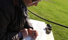Mark Anstee drawing Stonehenge 4th October