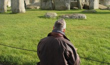 Mark Anstee draws Stonehenge November 2012