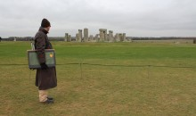 The artist looks at Stonehenge