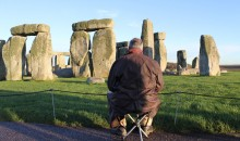 Mark Anstee draws Stonehenge 21/11/12