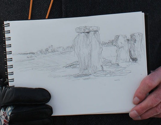 Torgny's drawing of Stonehenge