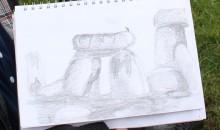 Tom Elliott's sketch of Stonehenge
