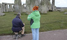 Spring visitors to Stonehenge