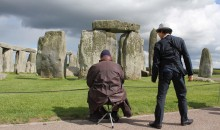 The Artist and Stonehenge Visitor