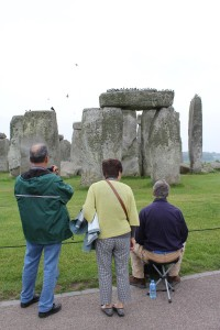 Stonehenge Artist and Visitors