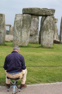 The Stonehenge Artist at work